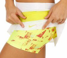 Nike Premier Maria Sharapova Gonna Pantaloni corti 2in1 Bianco Cyber Volt Rosa Taglia L Nuovo