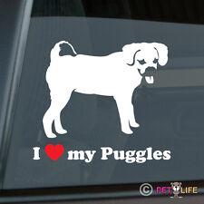 I Love My Puggles Sticker Die Cut Vinyl