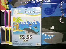 Stick the Fin on the Shark Game Luau Game Shark Party Fun !