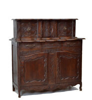 Antique French Country Oak Sideboard Cabinet Cupboard
