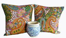 Paisley Print Indian Cotton Square Kantha Pillow Cover Throw Set-2 Cushion Cover