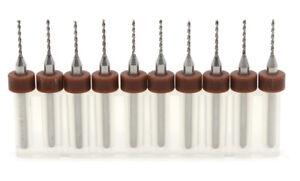 10x 0.95mm Micro Mini Dril Bit Tungsten Steel Dremel Rotary Tool Set-PCB-SMT etc