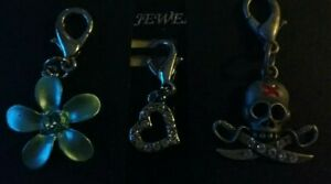 MIRAGE HEART DOG CAT COLLAR TAGS  CHARMS  GREAT on BAGS n ZIPS 2 FOR £5 SCULL