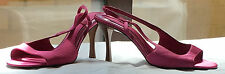 M&S 'The cCollection' Ladies Pink Strappy Stiletto Satin Sandals, Size 4.5