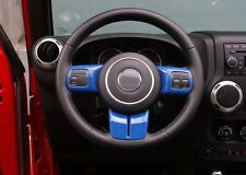 Blue Steering Wheel Cover Trim Fit JEEP Wrangler Compass Patriot Grand Cherokee