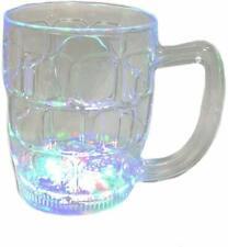LED Light Up Flashing Beer Mug Drink Decoration and Barware Glasses 16 oz