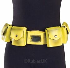 Adult Official Yellow Batman Utility Belt DC Comic Fancy Dress Costume Accessory