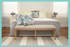 *IN STOCK* NEW French Provincial / Hamptons Style Oak and Linen bedend bench