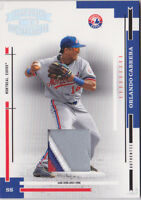 2004 Throwback Threads Material Prime #122 Orlando Cabrera Jersey PATCH #/25
