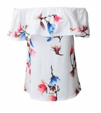 Maglie e camicie da donna maniche a pipistrello floreale taglia S