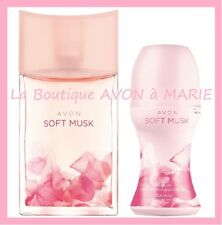 Set Eau Of Toilette Soft Musk + Deodorant To Ball Chez avon New