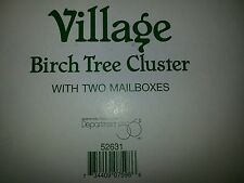 """Department 56 """"Village Birch Tree Cluster W/2 Mailboxes And Red Birds"""