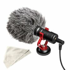 DSLR Camera Microphone Interview Audio Video Recording Mic for Canon Nikon Phone
