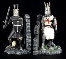 Buchstützen Paar Ritter Figuren - Kreuzritter Templer Tempelritter