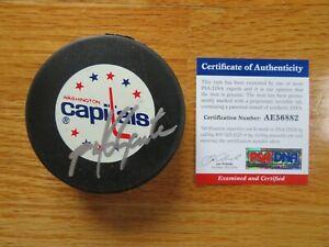 HOFer MIKE GARTNER signed WASHINGTON CAPITALS 708 Goals Puck PSA / DNA AE56882