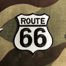 Route 66 Embroidered Patch R014P Americana Nostalgia Hot Rod Harley Davidson