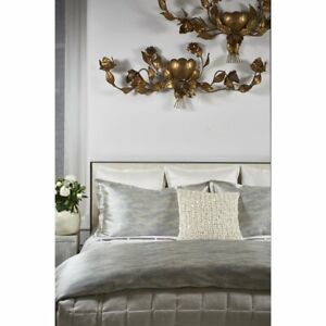 Ann Gish The Art of Home 3-Piece Shimmer King Duvet Cover Set, Pool MSRP $490
