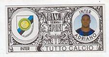 figurina - TUTTO CALCIO EURO MONETE  - INTER ADRIANO