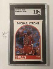 1989-90 NBA Hoops #200 Michael Jordan Chicago Bulls HOF SGC 10 GEM MINT Graded