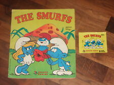 The Smurfs 1982 Complete Panini Sticker Album & Smurfs Panini Packet