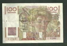 1953 France 100 Francs Currency Note Pick #128E Paper Money Cent Francs