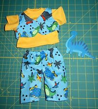 "Handmade Doll Clothes for 14"" Cabbage Patch Dolls - Boys - ""Dino"" 3-pc Pants Set"