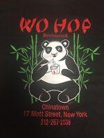 2018 Wo Hop Chinese Food Shirt Panda Bear New York City Restaurant NYC Chinatown