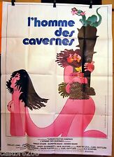 AFFICHE CINEMA 1981 L'HOMME DES CAVERNES FEMME NUE GOTTLIEB RINGO STARR 120x160