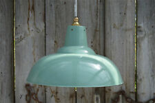 Large French green/grey hanging light pendant shade ceiling lamp factory BL17G3