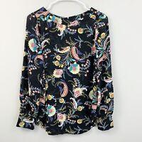 Ann Taylor LOFT Colorful Paisley Floral Lightweight Blouse Womens Size XS