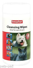 Beaphar toallitas húmedas, ideal para la rápida limpieza, Perros & Gatos, ojos, oídos & Muddy Paws