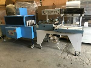USED AUTO Shrink wrapper L Sealer wrapping tunnel shrink wrap machine,£3250+VAT