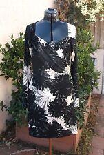 Norma Kamali Kulture mock wrap dress L w/ apron front Better than Walmart