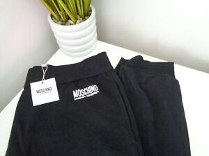 Moschino Black Cotton Blend Jersey Pyjama Bottoms / Lounge Pants size L