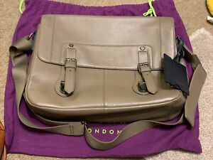New Ted Baker Satchel Or Laptop Bag In Brown Leather Extra Large MIAMORE