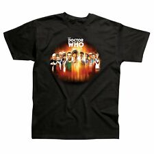 Official BBC Doctor Who 50th Anniversary 11 Doctors Black Adult T-shirts - Large