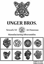 """New Unger Brothers Art Nouveau Sterling Silver Jewelry Book 168 pgs HC DJ 6x9"""""""