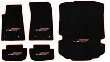 NEW! BLACK FLOOR MATS 2016-2017 Camaro 50TH Fifty Anniversary Logo Orange All 5