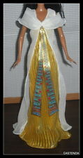 DRESS BARBIE DOLL  PRINCESS OF THE NILE DOTW GOLD & WHITE GOWN FITS MODEL MUSE