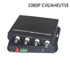 1080P HD CVI AHD TVI 4 Channel Video Data Fiber Optical Media Converters -CCTV