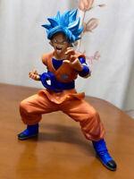 Dragon Ball Z DBZ Blue hair Son Goku Super Saiyan Action figure PVC Toy New Box