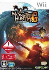 Used Wii Monster Hunter G Nintendo JAPAN JP JAPANESE JAPONAIS IMPORT