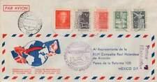 Poststuk (149) 1952 - Openings Vlucht KLM Nederland-Mexico