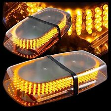 Oval 12V DC 240 LED Emergency Hazard Warning /Mini Bar Strobe Light -Amber SSA