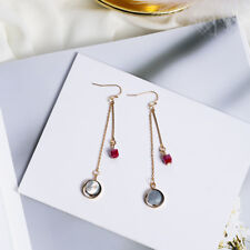 Wholesale Gold Plated Coral Natural Crystal Stone Shell Dangly Party Earrings