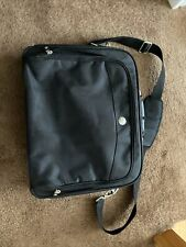 Dell Laptop Computer Briefcase Messenger Shoulder Bag Black Heavy Duty 17 inch