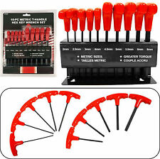 HAWK TP6050 - High Torque T-Handle Metric Alan Key Wrench Set w/stand - New