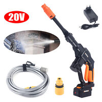 20V Cordless Electric High Pressure Car Washer Water Spray Cleaning Gun Hose Set