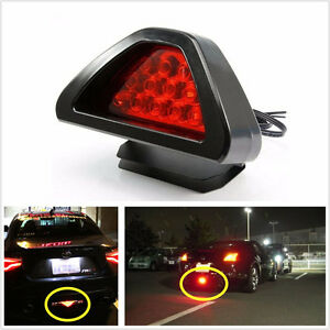 F1 Style 12LED black Car Auto Rear Tail High/Low Third Brake Stop Safety Lamp