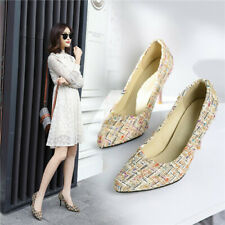 Women Stilettos High Heels Pointed Toe Wedding Party Pumps Shoes